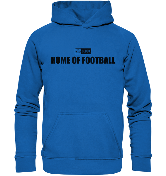 "N.O.S.W. BLOCK Hoodie ""HOME OF FOOTBALL"" Kids UNISEX Kapuzenpullover blau"