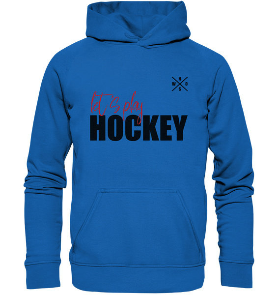"Teamsport Hoodie ""LET´S PLAY HOCKEY"" Kids UNISEX Kapuzenpullover blau"