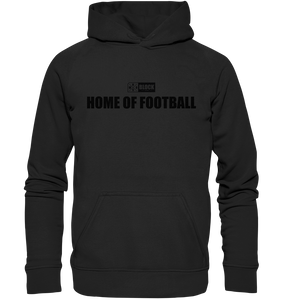 "N.O.S.W. BLOCK Hoodie ""HOME OF FOOTBALL"" Kids UNISEX Kapuzenpullover schwarz"