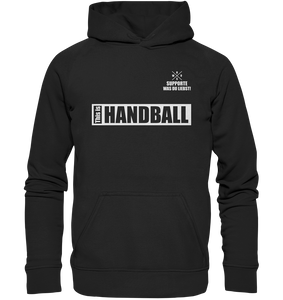 "Teamsport Hoodie ""THIS IS HANDBALL"" Kids UNISEX Kapuzenpullover schwarz"