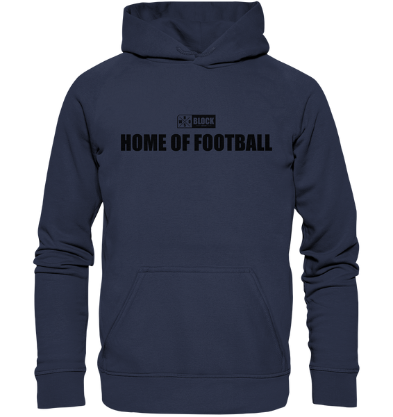 "N.O.S.W. BLOCK Hoodie ""HOME OF FOOTBALL"" Kids UNISEX Kapuzenpullover deep navy"
