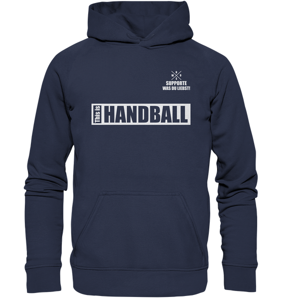"Teamsport Hoodie ""THIS IS HANDBALL"" Kids UNISEX Kapuzenpullover navy"