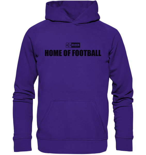 "N.O.S.W. BLOCK Hoodie ""HOME OF FOOTBALL"" Kids UNISEX Kapuzenpullover lila"