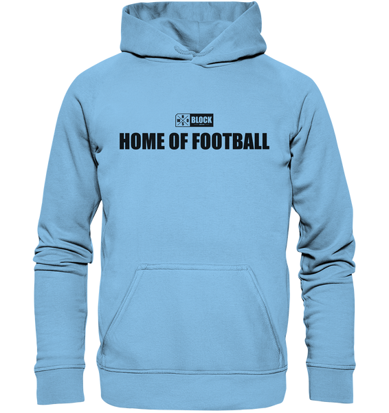 "N.O.S.W. BLOCK Hoodie ""HOME OF FOOTBALL"" Kids UNISEX Kapuzenpullover himmelblau"