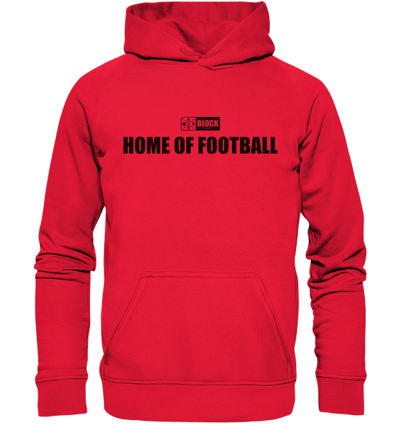 "N.O.S.W. BLOCK Hoodie ""HOME OF FOOTBALL"" Kids UNISEX Kapuzenpullover rot"