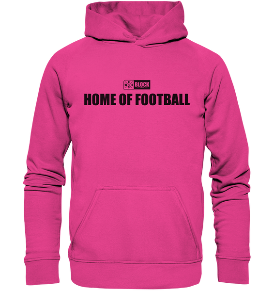"N.O.S.W. BLOCK Hoodie ""HOME OF FOOTBALL"" Kids UNISEX Kapuzenpullover magenta"