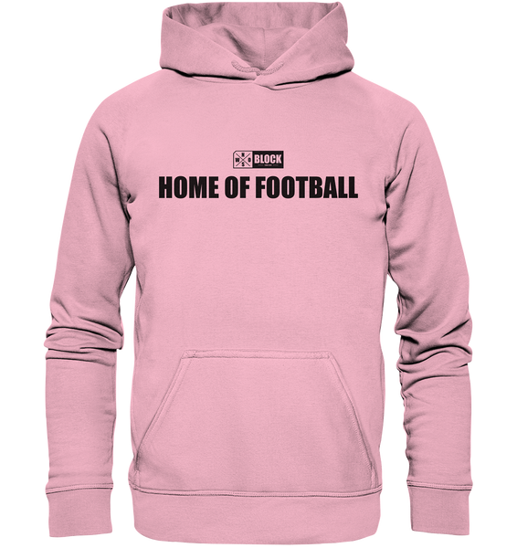 "N.O.S.W. BLOCK Hoodie ""HOME OF FOOTBALL"" Kids UNISEX Kapuzenpullover light pink"