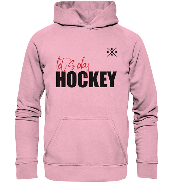 "Teamsport Hoodie ""LET´S PLAY HOCKEY"" Kids UNISEX Kapuzenpullover pink"