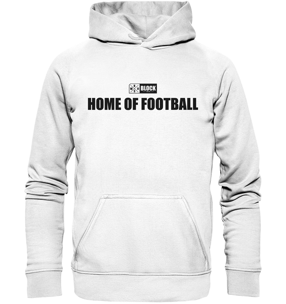 "N.O.S.W. BLOCK Hoodie ""HOME OF FOOTBALL"" Kids UNISEX Kapuzenpullover weiss"