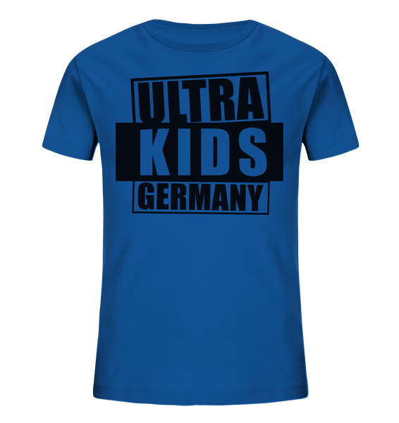 "Fanblock Shirt ""ULTRA KIDS GERMANY"" Kids UNISEX Organic T-Shirt blau"