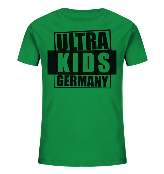 "Fanblock Shirt ""ULTRA KIDS GERMANY"" Kids UNISEX Organic T-Shirt grün"