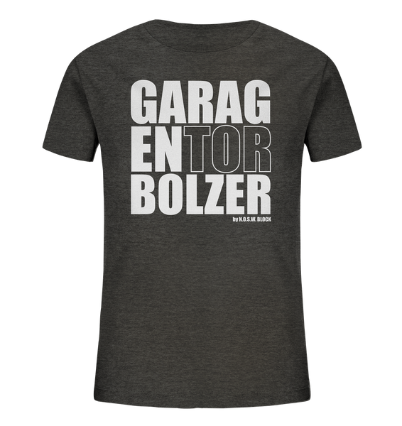 "Teamsport Shirt ""GARAGENTOR BOLZER"" Kids Organic UNISEX T-Shirt dark heather grau"