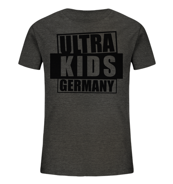 "Fanblock Shirt ""ULTRA KIDS GERMANY"" Kids UNISEX Organic T-Shirt dark heather grau"