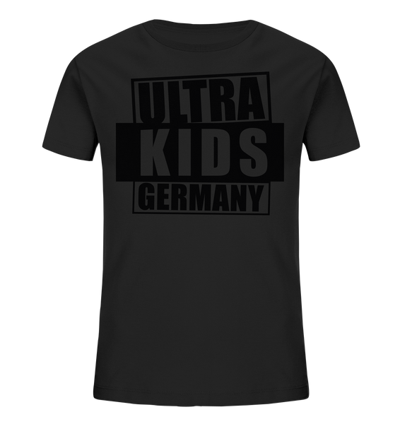 "Fanblock Shirt ""ULTRA KIDS GERMANY"" Kids UNISEX Organic T-Shirt schwarz"