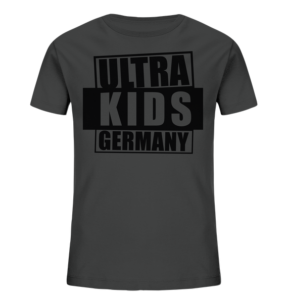 "Fanblock Shirt ""ULTRA KIDS GERMANY"" Kids UNISEX Organic T-Shirt anthrazit"