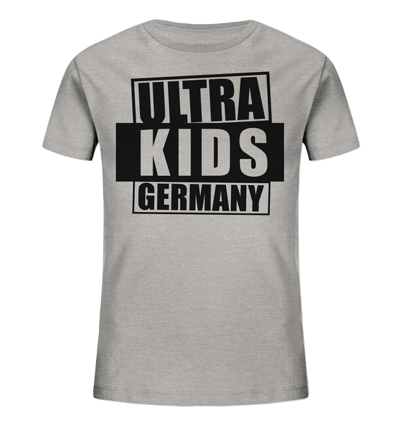 "Fanblock Shirt ""ULTRA KIDS GERMANY"" Kids UNISEX Organic T-Shirt heather grau"