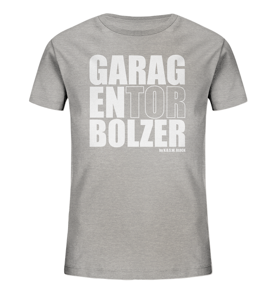 "Teamsport Shirt ""GARAGENTOR BOLZER"" Kids Organic UNISEX T-Shirt heather grau"
