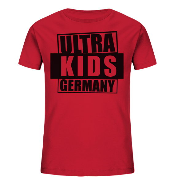 "Fanblock Shirt ""ULTRA KIDS GERMANY"" Kids UNISEX Organic T-Shirt rot"