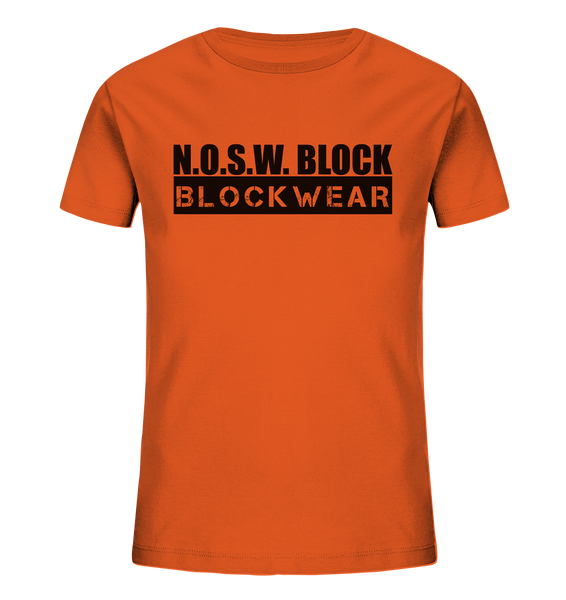 "N.O.S.W. BLOCK Shirt ""BLOCKWEAR"" Kids UNISEX Organic T-Shirt orange"