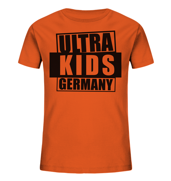 "Fanblock Shirt ""ULTRA KIDS GERMANY"" Kids UNISEX Organic T-Shirt orange"