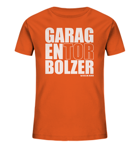 "Teamsport Shirt ""GARAGENTOR BOLZER"" Kids Organic UNISEX T-Shirt orange"