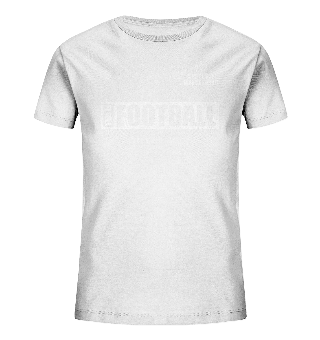 "Teamsport Shirt ""THIS IS FOOTBALL"" Kids UNISEX Organic T-Shirt weiss"