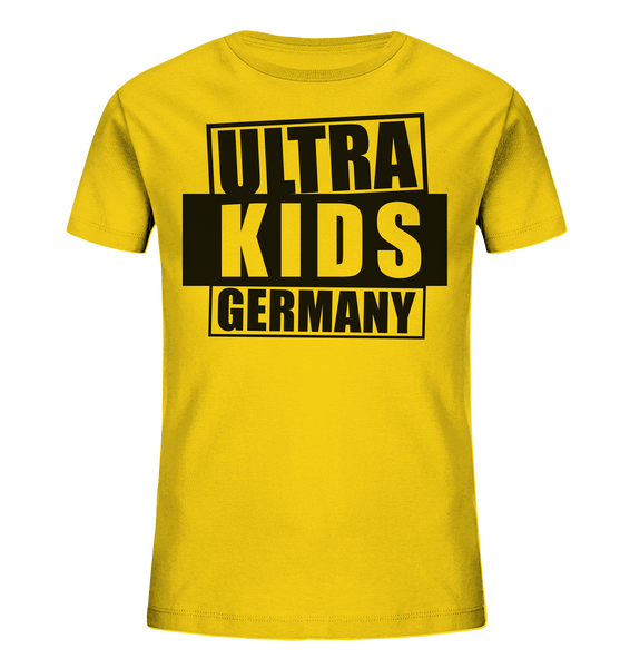 "Fanblock Shirt ""ULTRA KIDS GERMANY"" Kids UNISEX Organic T-Shirt gelb"