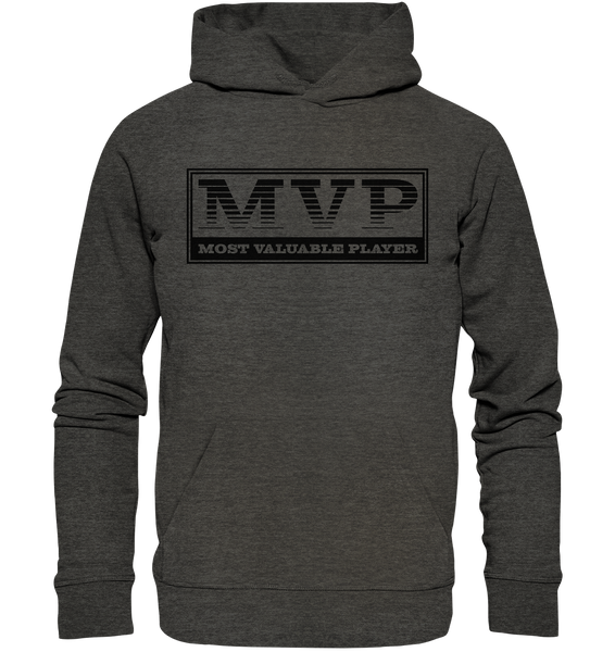 "Teamsport Hoodie ""MVP"" Männer Organic Basic Kapuzenpullover dark heather grau"