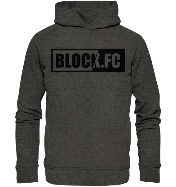 "N.O.S.W. BLOCK Hoodie ""BLOCK.FC"" Männer Organic Fashion Kapuzenpullover dark heather grau"
