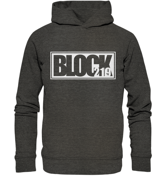 "N.O.S.W. BLOCK Hoodie ""BLOCK219"" Männer Organic Fashion Kapuzenpullover dark heather grau"