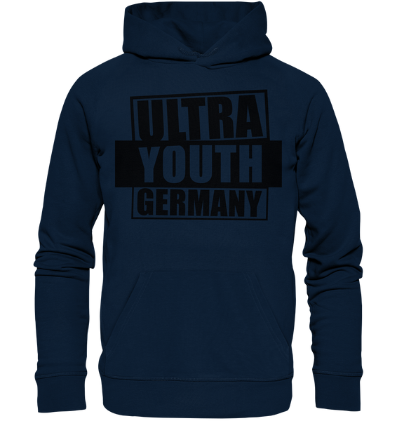 "Ultras Hoodie ""ULTRA YOUTH GERMANY"" Männer Organic Kapuzenpullover navy"