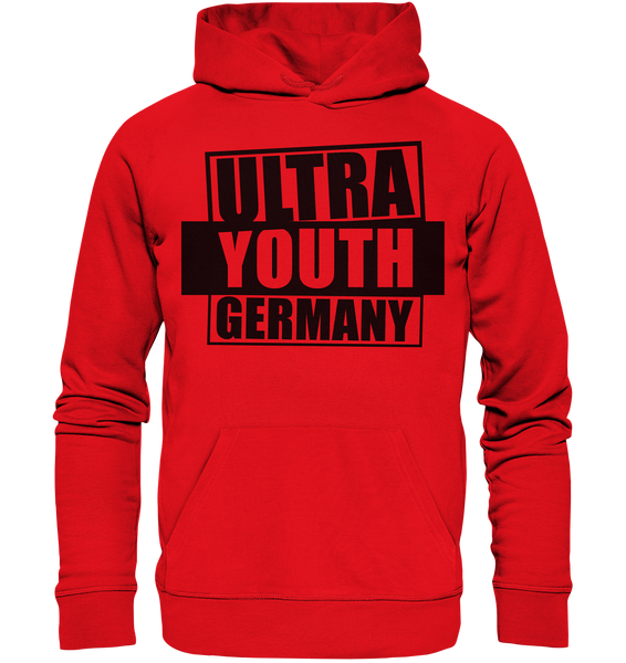 "Ultras Hoodie ""ULTRA YOUTH GERMANY"" Männer Organic Kapuzenpullover rot"