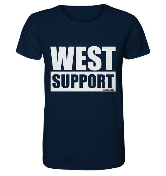 "Fanblock Shirt ""WEST SUPPORT"" Organic Männer T-Shirt navy"