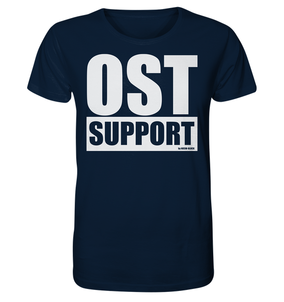 "Fanblock Shirt ""OST SUPPORT"" Männer Organic Rundhals T-Shirt navy"