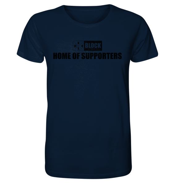 "N.O.S.W. BLOCK Shirt ""HOME OF SUPPORTERS"" Männer Organic Rundhals T-Shirt navy"
