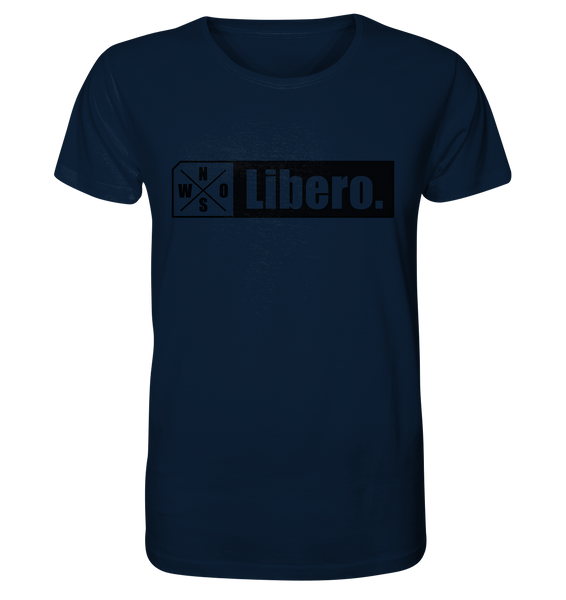 "Teamsport Shirt ""Libero."" Männer Organic T-Shirt navy"