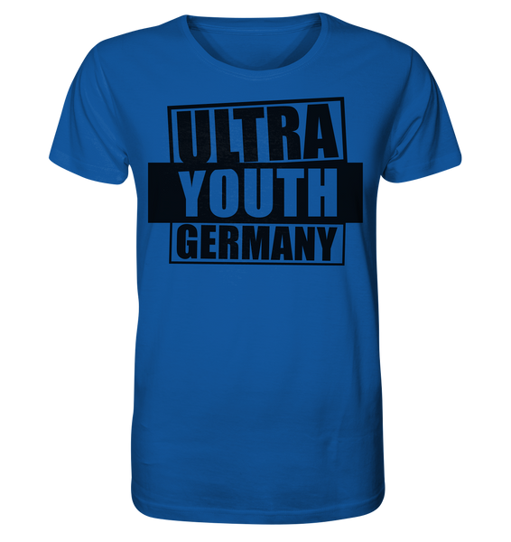 "Ultras Shirt ""ULTRA YOUTH GERMANY"" Männer Organic T-Shirt blau"