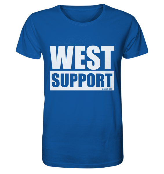 "Fanblock Shirt ""WEST SUPPORT"" Organic Männer T-Shirt blau"