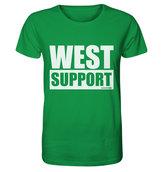 "Fanblock Shirt ""WEST SUPPORT"" Organic Männer T-Shirt grün"