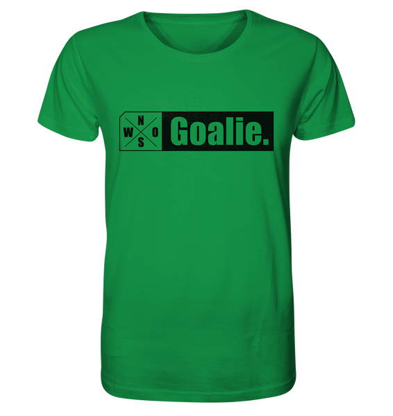 "Teamsport Shirt ""Goalie."" Männer Organic T-Shirt grün"