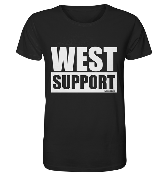 "Fanblock Shirt ""WEST SUPPORT"" Organic Männer T-Shirt schwarz"