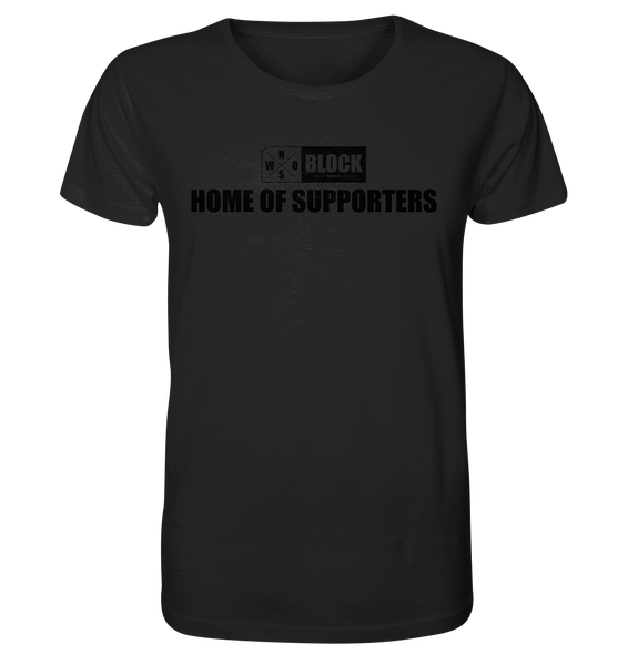 "N.O.S.W. BLOCK Shirt ""HOME OF SUPPORTERS"" Männer Organic Rundhals T-Shirt schwarz"