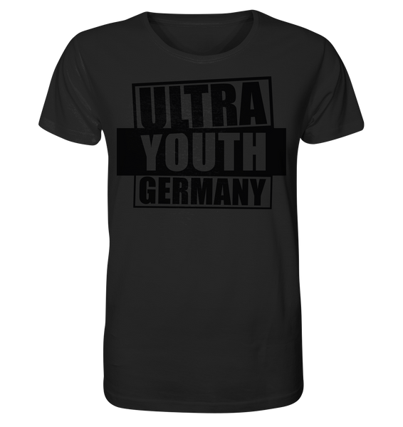 "Ultras Shirt ""ULTRA YOUTH GERMANY"" Männer Organic T-Shirt schwarz"