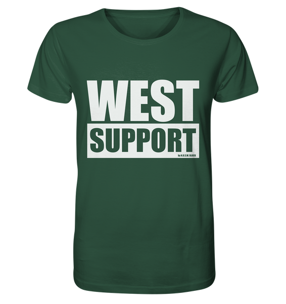 "Fanblock Shirt ""WEST SUPPORT"" Organic Männer T-Shirt dunkelgrün"