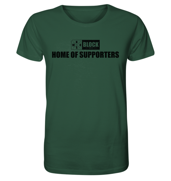 "N.O.S.W. BLOCK Shirt ""HOME OF SUPPORTERS"" Männer Organic Rundhals T-Shirt dunkelgrün"
