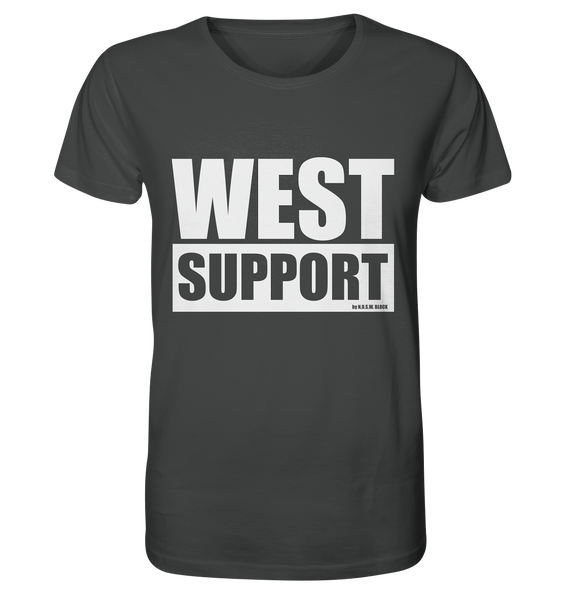 "Fanblock Shirt ""WEST SUPPORT"" Organic Männer T-Shirt anthrazit"