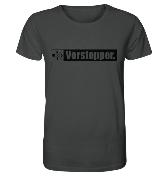 "Teamsport Shirt ""Vorstopper."" Männer Organic T-Shirt anthrazit"