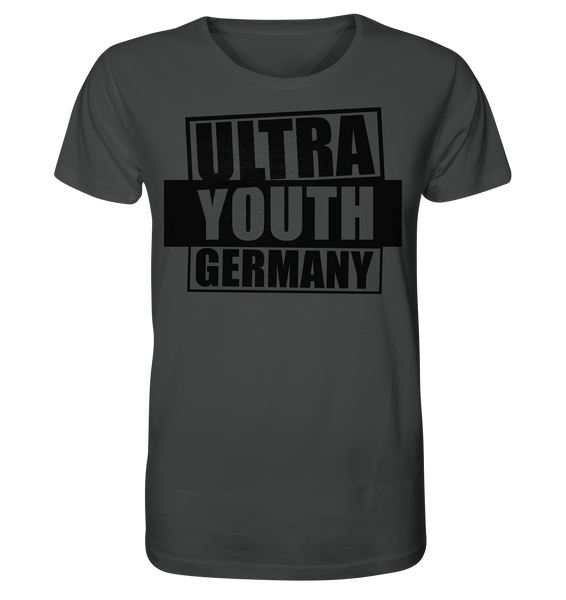"Ultras Shirt ""ULTRA YOUTH GERMANY"" Männer Organic T-Shirt anthrazit"