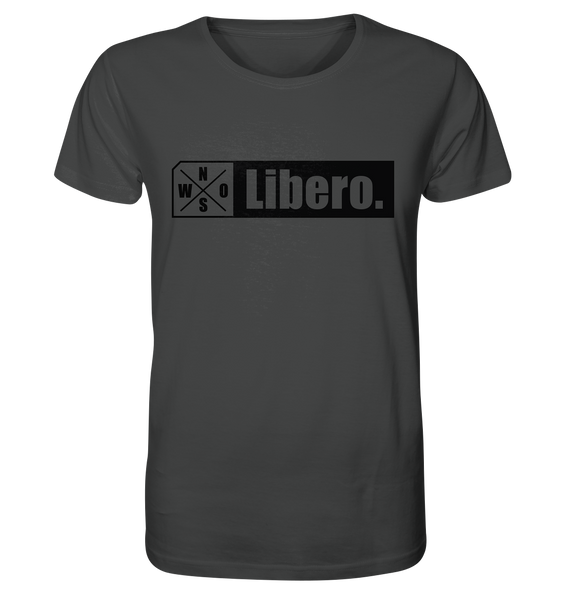 "Teamsport Shirt ""Libero."" Männer Organic T-Shirt anthrazit"