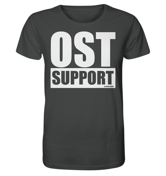 "Fanblock Shirt ""OST SUPPORT"" Männer Organic Rundhals T-Shirt anthrazit"